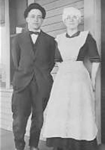 Victorian butler/housekeeper couple